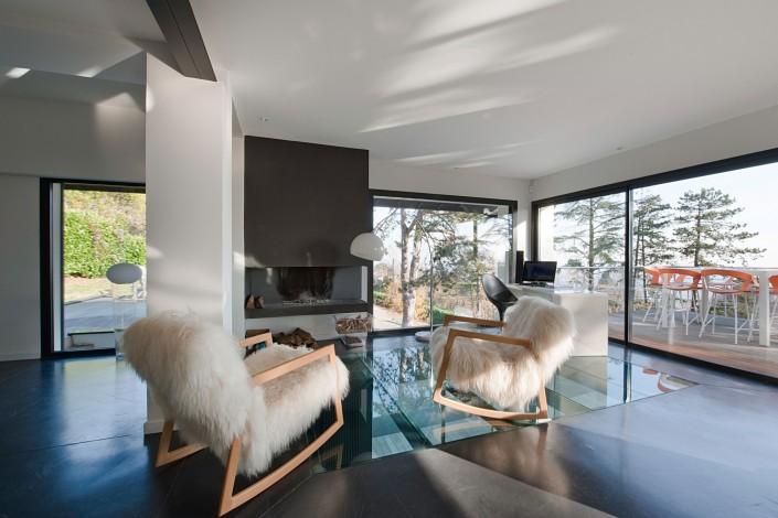 Maison d'architecte - Cheminée